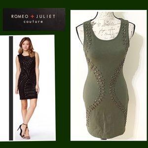 NWT Bronze Green Mini Dress